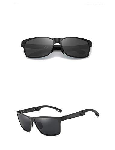Genuine Kingseven sunglasses 2018 men fashion polarized UV400 Ultra light Al-Mg (Black)