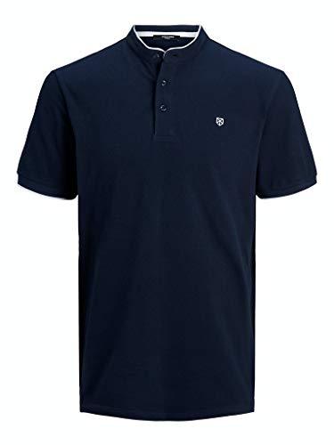 Jack & Jones Jpraxel Bla. Mao Polo SS STS Camisa, Blazer Azul Marino, M para Hombre