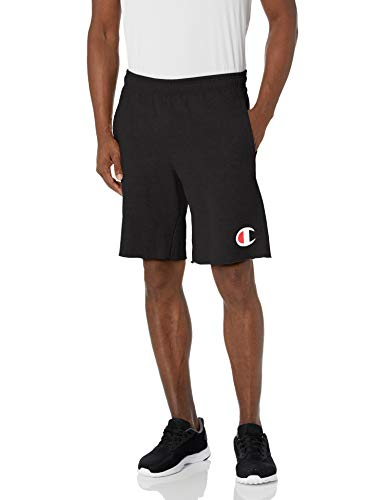 Champion Herren Graphic Powerblend Fleece Shorts, schwarz, Klein