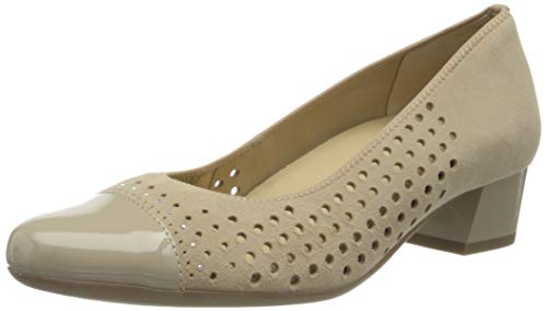 ara Damen NIZZA Pumps, Braun (Nude, Camel 07), 42 EU(8 UK)
