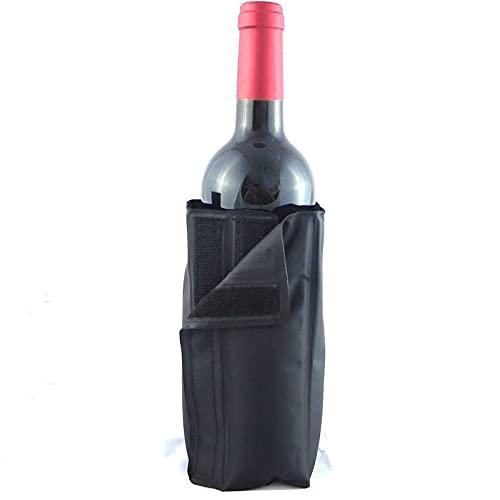 Gabinete de vino Bolsa de hielo Jalea Picnic Bebida Frío Botella Manga Refresco Estante Bar Cerveza Champán Barril Negro