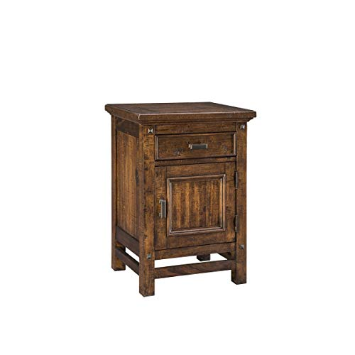 Intercon Wolf Creek Rustic Vintage Acacia 1-Door 1-Drawer Nightstand