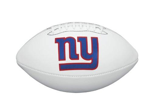 NFL Team Logo Autograph Football New York Giants