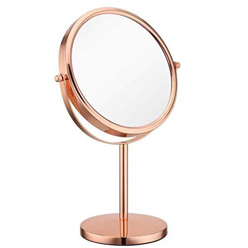 IREANJ Espejo de Vanidad de baño Espejos del Recorrido del Maquillaje Espejo (8') 360 giratoria Espejo de Maquillaje/Afeitar Espejo/Espejo de baño con un Aumento de 10x Mesa de Maquillaje o afeit