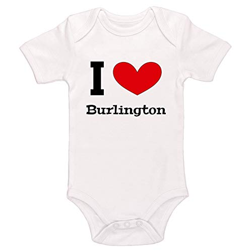 Kinacle I Love Burlington Baby Bodysuit (Preemie, White)
