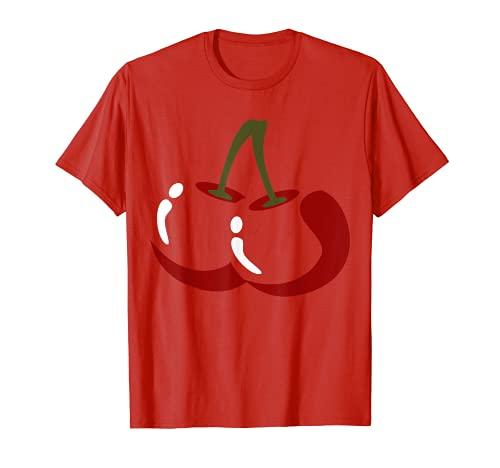 Disfraz de cereza grande lindo fcil de Halloween regalo Camiseta