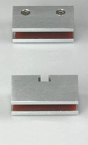 Helm Glasklemmleisten 1 Paar Glasklemmen für Glasstärke 8 mm Glastüren bis 40kg