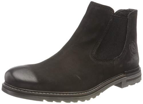 bugatti Herren 321A0U303500-1000 Chelsea-Stiefel, schwarz, 43 EU