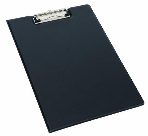 Alba CLAPIN - Cartella per appunti, formato: A4, in PVC, con tasta interna porta-documenti, dimensioni: 235 x 350 x 12 mm, colore: Nero