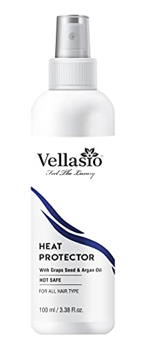Vellasio Classic Heat Protection Spray For Hair Straightener With Argan Oil, Grapes Seed And Heat Protector Hair Spray . (Classic Collection Hair Spray)