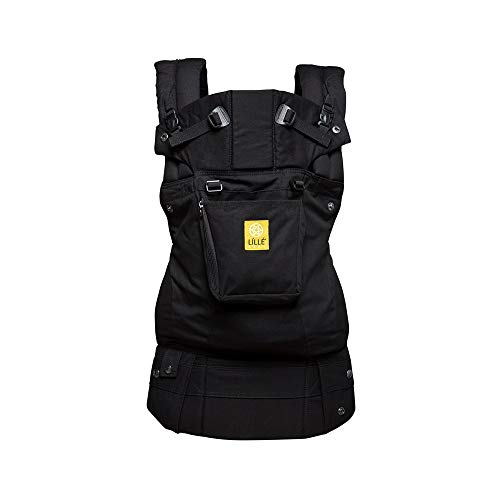 LÍLLÉbaby Complete Original 6-in-1 Ergonomic Baby & Child Carrier, Black - 100% Cotton