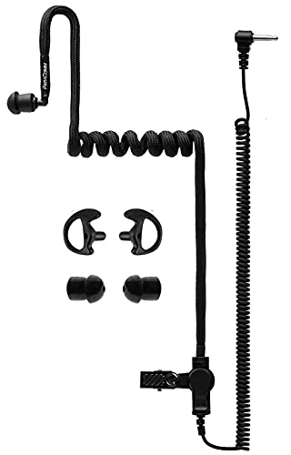 Moisture Resistant Listen Only Earpiece 3.5mm - Radio Earpiece for Law Enforcement, Police Radio Mic Earpiece Compatible with Motorola and Kenwood Two Way Radios. by ParaComm