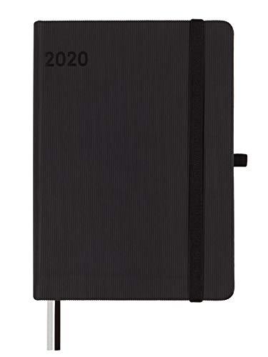 Finocam - Agenda 2020 1 día página Mínimal Textura Negro español - 12.4 x 17.4 cm