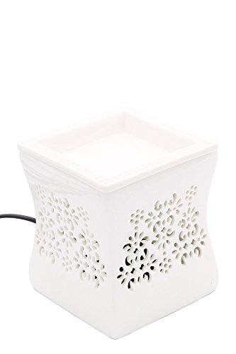 Candle-Lite elektrische Duftlampe Nata stilvoll und flammenlos im schönen Keramik Design für dein Zuhause, 25W Glühlampe mit abnehmbarer Schale