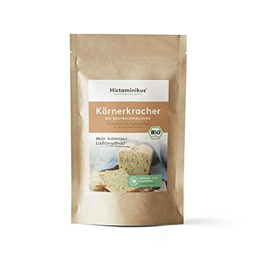 Histaminikus Körnerkracher, Bio Brotbackmischung, histaminfreie Backmischung, ergibt ein glutenfreies Brot (1kg), ohne Hefe, vegan und geeignet bei Histaminintoleranz