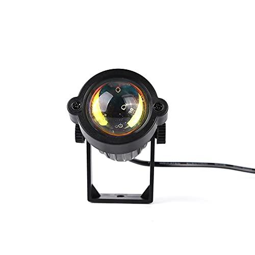 HAOXIU Lámpara USB Sunset Projection Lamp LED Breaking Dawn Coastline Playa Rotación 180° para Selfie Iluminación Dormitorio Salón Fiesta Lámpara Decoración