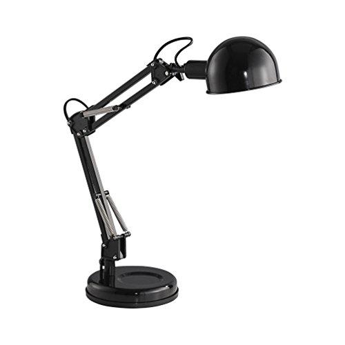 LeuchtenDirekt 11021-18 Tischleuchte Eisen E14, 40 W schwarz