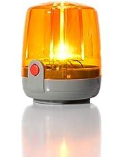 Rolly Toys zwaailicht knipperlicht (knipperlicht; hoge helderheid; LED-technologie; montageplaat; oranje) 409556
