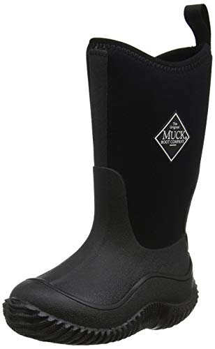Muck Boots Hale Multi-Season Kids' Rubber Boot,Black/Black,1 M US Little Kid