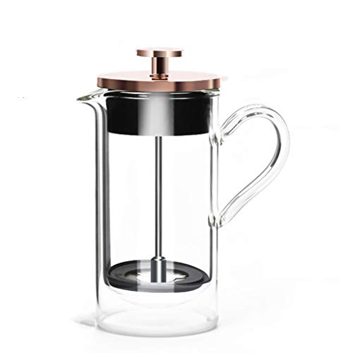 Purchase Xuejuanshop Espresso Maker - Moka Pot Coffee Maker Double-Layer Heat-Resistant Glass Method...