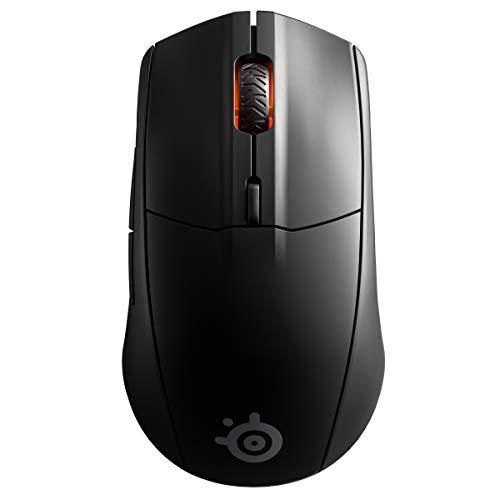 SteelSeries Rival 3 Wireless, Ratón Para Gaming, Batería Con Más De 400 Horas De Duración, Tecnología Dual Inalámbrico a 2.4 GHz y Bluetooth 5.0