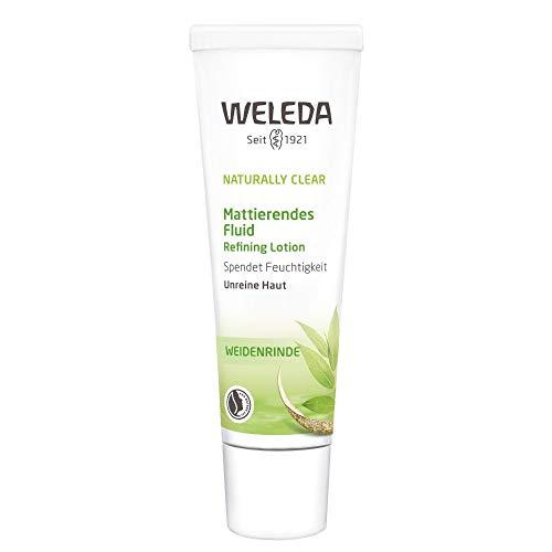 WELEDA Naturally Clear Mattierendes Fluid, Naturkosmetik bei Pickeln & Mitessern, Feuchtigkeitscreme für unreine Haut, Mattierende Creme (1 x 30 ml)