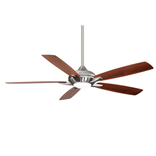 Minka-Aire F1001-BN Dyno XL 60 Inch Five Blade Indoor Smart Ceiling Fan with DC Motor and LED Light in Brushed Nickel Finish works with Alexa, Nest, Ecobee, Google Home and iOS/Android App