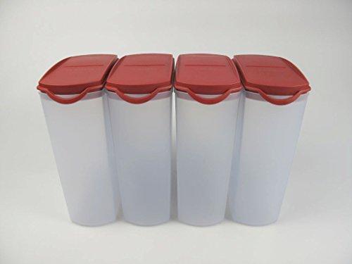 TUPPERWARE Eidgenossen Plus 2,2 L Rot Trockenvorrat (4) Vorrat Dose Modular