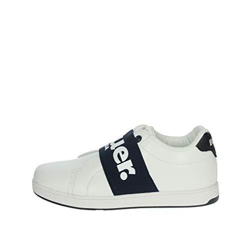 Blauer USA Kinder Schuhe S0Buzz01/Puc Sneaker für Kids, Farbe:Weiß, Größe:EUR 32