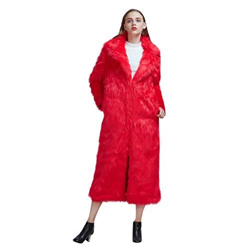 MINIKIMI bontmantel dames kunstbont wintermantel 2019 stijlvolle winterjas warm pluche jas herfst winter lange parka elegante jas jas