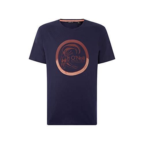O'Neill Herren LM Circle Surfer T-Shirt Tees, Blau, M