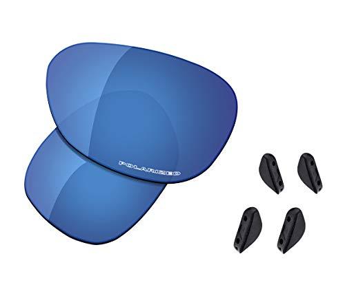 Saucer Lentes y almohadillas de nariz de repuesto para gafas de sol Oakley Pulse, (High Defense - Midnight Blue Polarized), Talla única