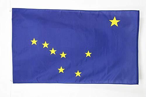 AZ FLAG Flagge Alaska 150x90cm - Bundesstaat Alaska Fahne 90 x 150 cm - flaggen Top Qualität