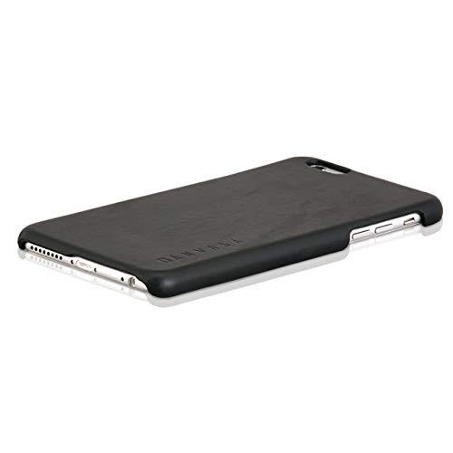 KANVASA iPhone 6/6s Plus Funda Piel Carcasa Negra - Funda Ultraligera One para Apple iPhone 6 / 6s Plus (5.5 Pulgadas) - Hecha de Auténtica Piel de Cuero - Protección Óptima y Piel de Calidad