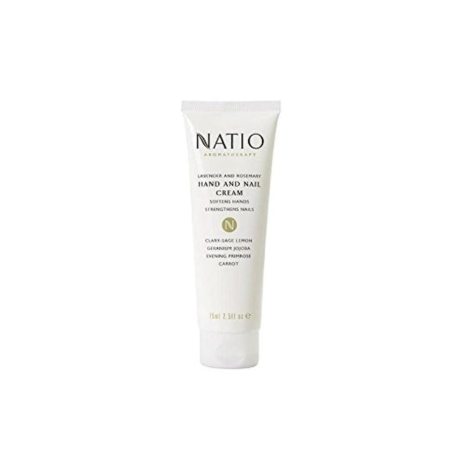 森林忌避剤ドナーラベンダーとローズマリーハンド&ネイルクリーム(75ミリリットル) x4 - Natio Lavender And Rosemary Hand & Nail Cream (75ml) (Pack of 4) [並行輸入品]