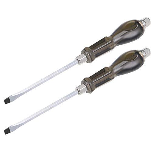 DealMux Destornillador de impacto ranurado de 7 mm, destornillador de demolición Keystone magnético de 6 pulgadas, paquete de 2