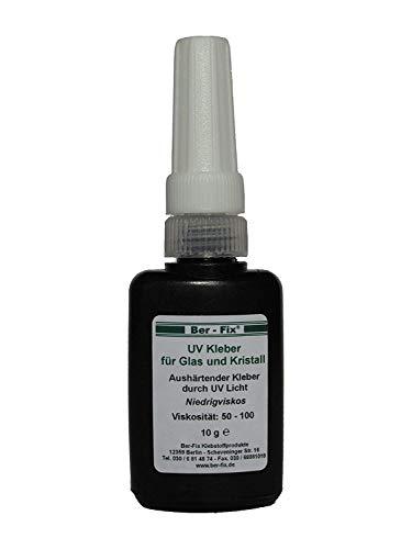Ber-Fix® 10g UV Kleber dünnflüssig | Glas mit Glas | Metall | Kunststoff