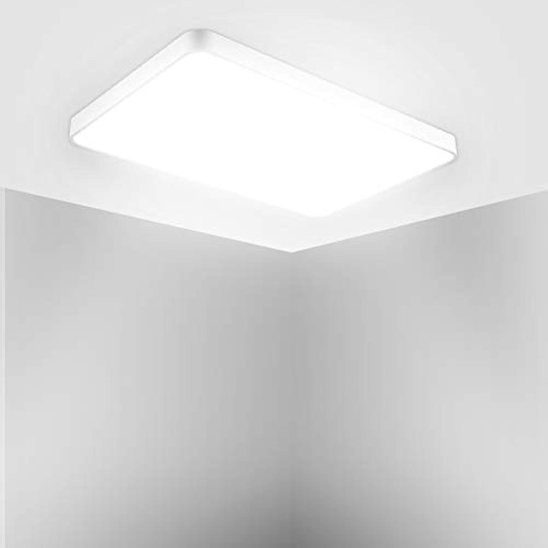 LED Deckenleuchte, Led Flurlampe, LED Deckenlampe, Kaltwei Warmwei Quadrat Modern Schlafzimmer Küche Wohnzimmer Lampe für Balkon Flur Küche Wohnzimmer IP20[Energieklasse A+] (Kaltwei, 72W(90cm))