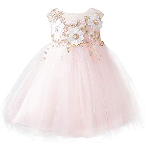 Baby Girl Party Dress Princess Girls Wedding Dresses Embroidery 3D...