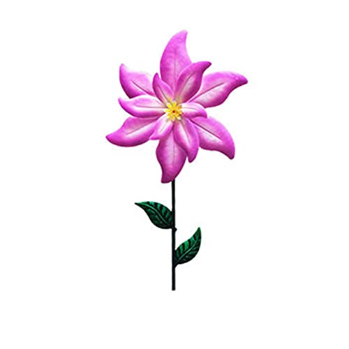 Garden Decoration Stake,Garden Simulation Plants Poles Colorful Stakes Large Metal Flower Outdoor Ornament Colorful Lawn Statue Peg for Yard