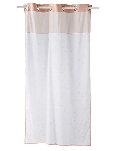 Vertbaudet Vorhang mit Sternen weiß/rosa 105X180