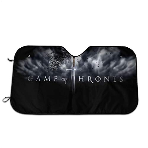 Bargburm Game of T-Hrones Car Windshield Sunshade, Foldable Front Auto Car Windshield Sun Shade Folding Sun Visor