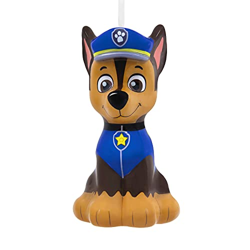 Hallmark Chase Paw Patrol Decoupage Christmas Ornament, German Shepherd Mighty Pups Gifts for Kids