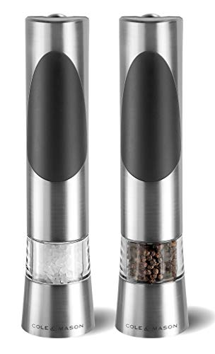 Cole & Mason Precision Richmond Electronic Salt and Pepper Mill Gift Set, 21.5 cm