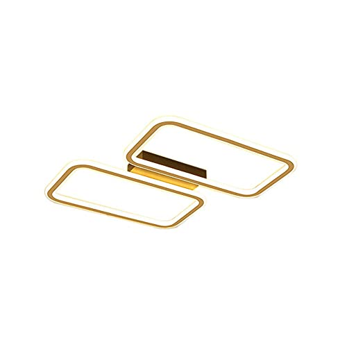 WenKaiLi Acabado dorado ultra delgado LED Luz ultra delgada de techo de montaje en color, cubierta de metal a prueba de óxido, lámpara de techo regulable simple, hogar industrial, hogar cerca de Lumin