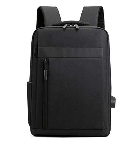 DKZ Business Laptop Backpack, Adjustable Business Backpack with USB Charging Port And Headphone Slot, Suitable for 14Inch Waterproof Laptop Backpack,Black