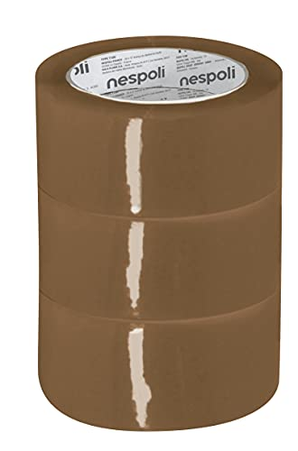 Nespoli N9930194705 Torre 3 Nastri da Imballo Avana 50mm x 66m