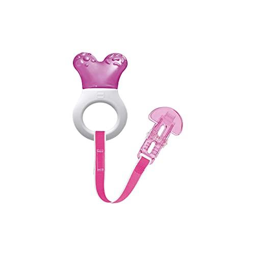 MAM 814222 - Mini Cooler & Clip, Dentaruolo rinfrescante e clip , bambina – Istruzioni in lingua straniera