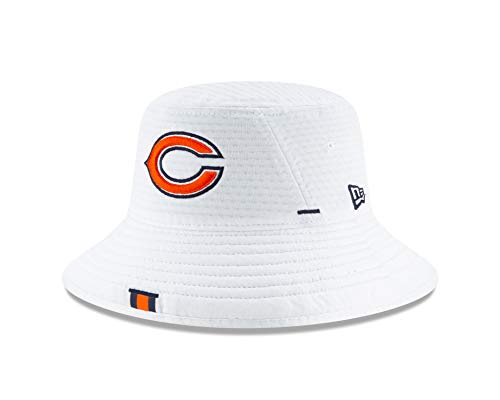 New Era Chicago Bears NFL 2019 Training Camp Official Bucket One Size Fits Most Cap Hat White - Chicago Bears,White