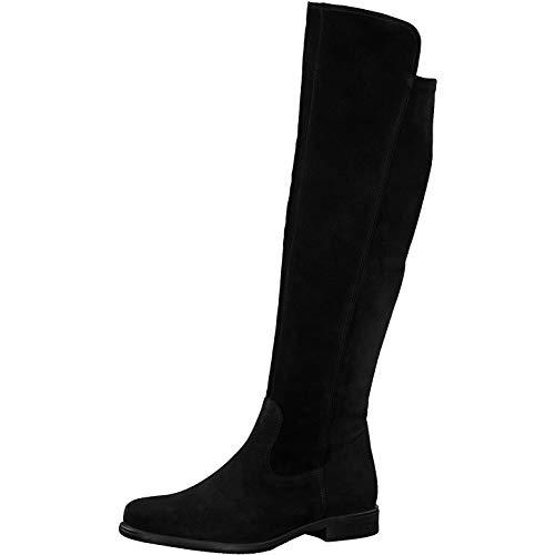 Tamaris Damen Stiefel, Freizeit Boots lederstiefel Reitstiefel Reiterlook weiblich Lady Ladies Women's Women Woman,Black/BLK SUE,38 EU / 5 UK